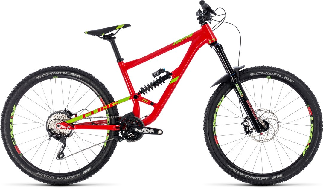 Hanzz 190 Race 27.5 red´n´lime