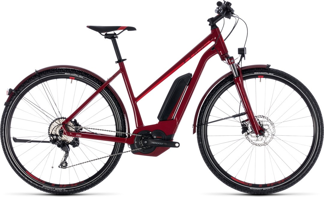 Cross Hybrid Pro Allroad 400 darkred´n´red Trapeze